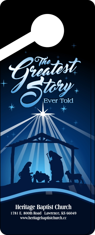 Christmas Door Hanger 1- Greatest Story