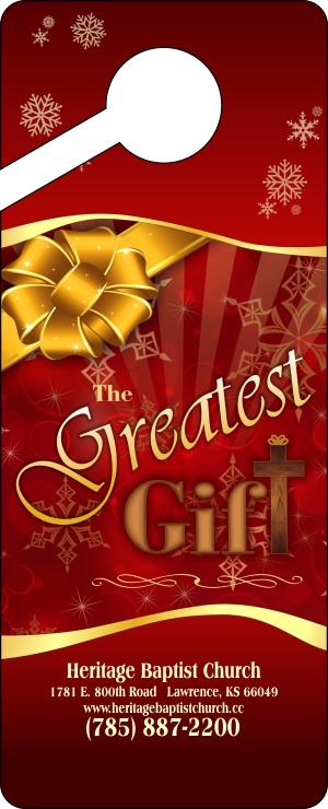 Christmas Door Hangers -Greatest Gift Front