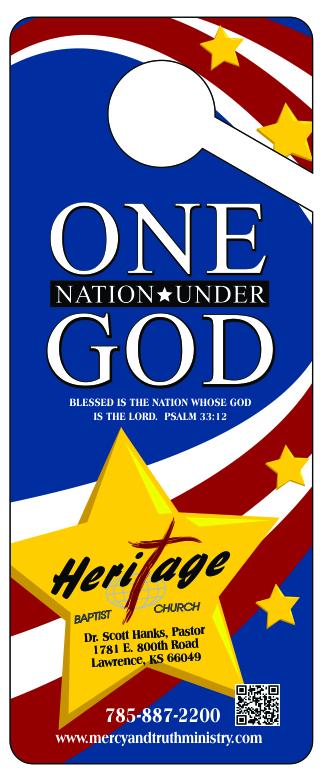 One Nation Door Hanger back